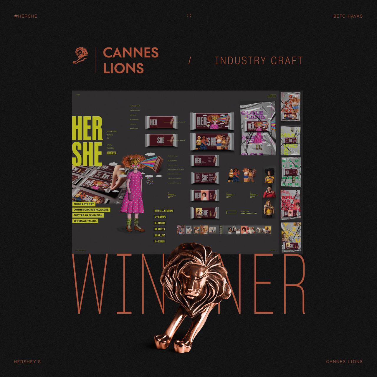 Hersheys recebe duas premiações do Cannes Lions, uma delas de suas embalagens em realidade aumentada produzidas pela Camargo Embalagens para o Dia das Mulheres