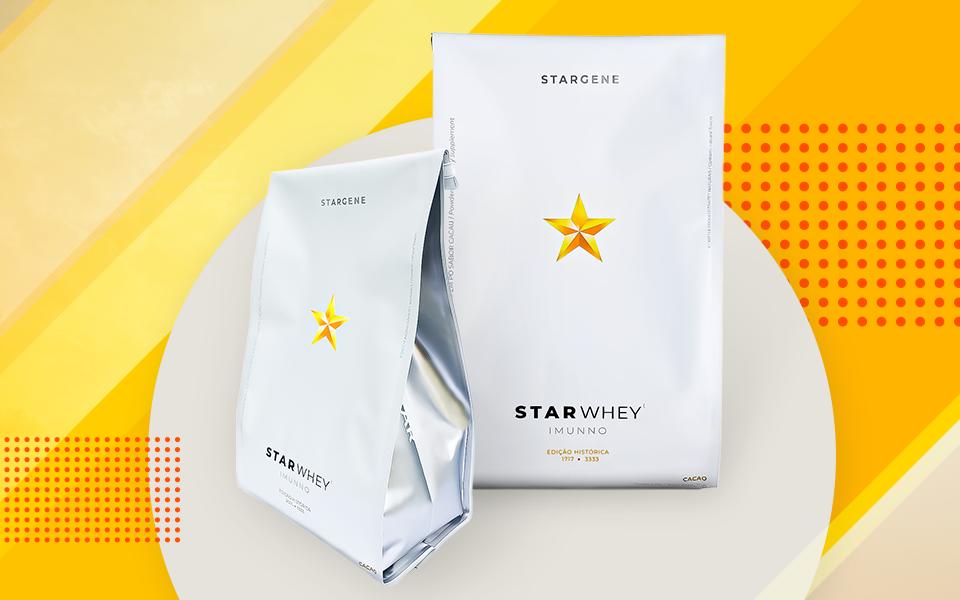 Stargene apresenta seu Whey Protein 100% isolado da Dinamarca em embalagens numeradas e únicas!
